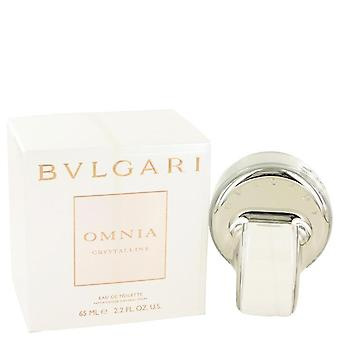Omnia Crystalline Eau De Toilette Spray por Bvlgari 2,2 oz Eau De Toilette Spray