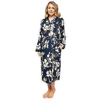 Cyberjammies Alexa 4502 Women's Navy Blue Floral Print Robe