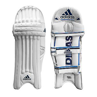 Adidas Libro 3.0 Kids Cricket Batting Pads Leg Guards Protection White/Blue