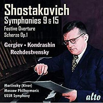 Shostakovich: Symphonies Nos.9 & 15 & More [CD] USA import