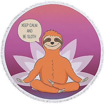 Rauhallinen Sloth ranta pyyhe
