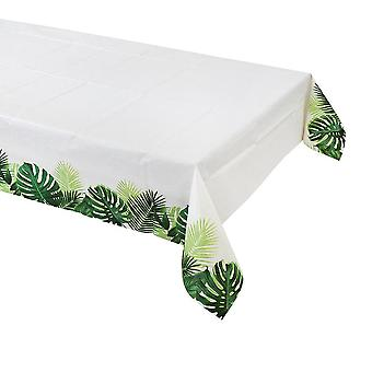 Tropical Fiesta Palm Paper Table Cover 180cm x 120cm