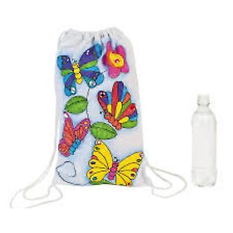 12 бабочка дизайн ткани рюкзак для детей ткань живопись
