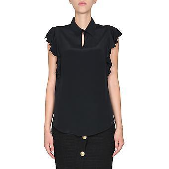 Boutique Moschino 021958370555 Dames's Black Acetaat Top