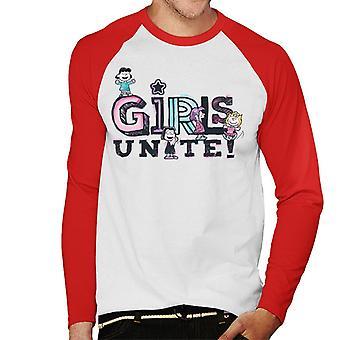 Peanuts Girls Unite Marcie Men's Baseball Long Sleeved T-Shirt
