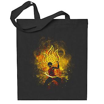 Avatar The Last Airbender Zuko Outline Totebag