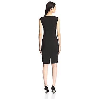 SOCIETY NEW YORK Women's Asymmetrical Neck Dress, Black, 4 US