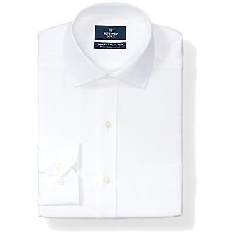 BUTTONED DOWN Men's Tailored Fit Stretch Poplin Non-Iron Kleid Shirt, weiß, ...