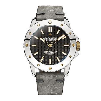 Meccaniche Veneziane 1303004 Arsenale Automatic Grey Leather Wristwatch