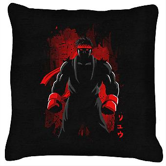 Ryu Street Fighter Silhouette Red Shadow Cushion