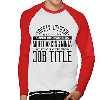 Super Courageux Multitasking Ninja Men-apos;s Baseball Long Sleeved T-Shirt