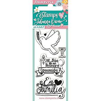Stamperia En Familia tydliga frimärken