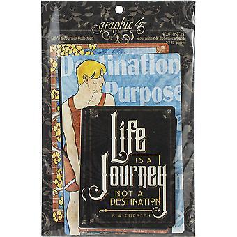 Grafisk 45 Life's a Journey Ephemera & Journaling Kort