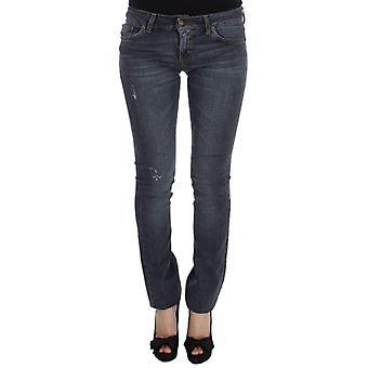Blue Wash Katoenmix slim fit jeans--SIG3553541