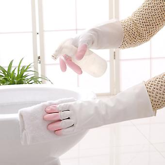 Household Cleaning Rubber Gloves Pink 32.5x10.5cm