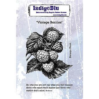 IndigoBlu Vintage Berries A6 Rubber Stamp