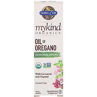 Giardino della Vita, MyKind Organics, Olio di Oregano, Gocce Stagionali, 1 fl oz (30 mL)