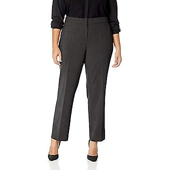 Lark & Ro Frauen's Plus Size Straight Leg Hose Hose: Classic Fit, Kohle,...