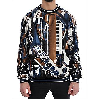 Multicolor jazz sequined runway pullover sweater