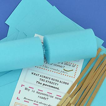 Único Jumbo Sea Blue Make & Fill Your Own DIY ReyClable Christmas Cracker Kit