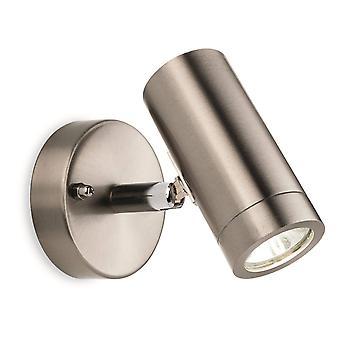 LED 1 Light Single Outdoor Wall Light Spotlight Acier inoxydable IP44