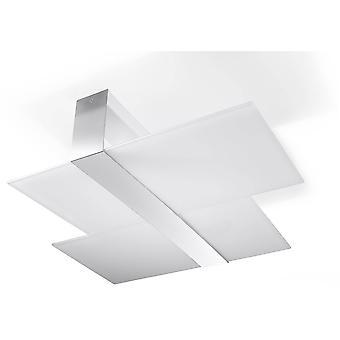 Sollux MASSIMO - 2 licht decoratief flush licht wit, chroom, E27