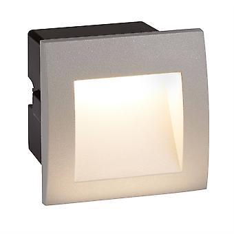 Searchlight Nilkka - LED Sisä / Ulkoaukio syvennys seinä vaaleanharmaa IP65