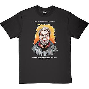 "Jürgen Klopp ""Walk On"" Charcoal Grey Men's T-Shirt"
