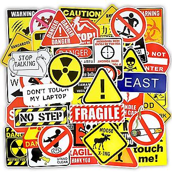 Warning Stickers- Danger Banning Signs Reminder Waterproof Decal