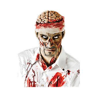 Adults Bloody Brain Exposed Zombie Halloween Costume Special Effects Accessory