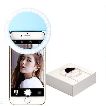 Led Mobile Phone Selfie Light Clip-on Lamp Portable Flash Light Photo Camera