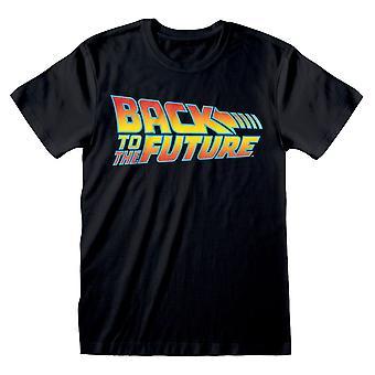 Universal Back to the Future Vintage Logo T-Shirt Unisex Small Black