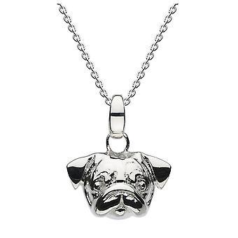 Dew sterling zilver 3D Pug hoofd hanger 90556HP024