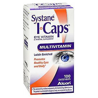 Alcon Systane ICaps Multivitamin Coated Tablets, 100 Tabs