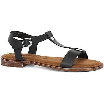 Schwarze Low Heel Sandalen