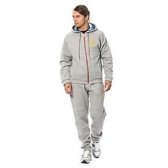 Gray cotton hooded swea28792151