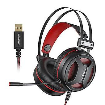 New Langsdom G2 USB 7.1 Gaming Headset RGB Light Headphone with Noise Cancelling