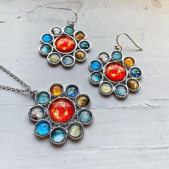 Ensemble de bijoux Halo système solaire