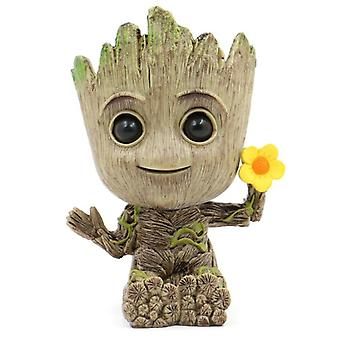 Groot Planter Pot Baby, Flowerpot Home Decor Action Figures Toy, Pvc Hero Model