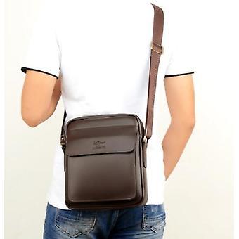 Men Casual Business Leather Shoulder Messenger Bag Vintage Crossbody Laptop