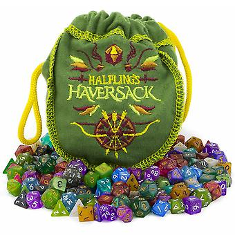 Halfling ' s haversack, 140 Mini polyhedral Dice