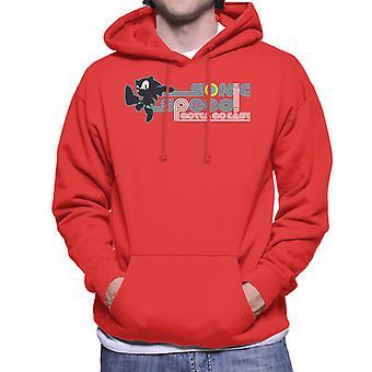 Sonic The Hedgehog Speed Gotta Go Fast Men's Hooded Sweatshirt
