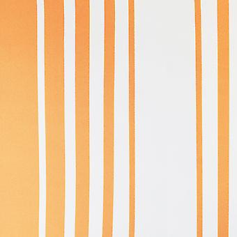 Accents Stripes Orange and White  Wallpaper Debona