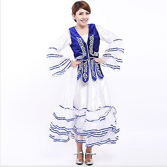 Vrouwen Xinjiang Nationaal Kostuum, Kazachse Dans Uygur Jurk