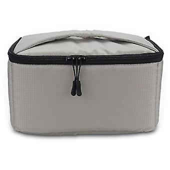EDAL Water-resistant DSLR Padded insert Case Waterproof Zipper Removable Partition Camera Bags(Light Grey)