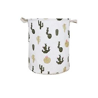 Large Laundry Basket With Drawstring Round For Dirty Clothes ,toys - Folding