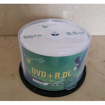 Dvd+r 8.5gb Doble Capa D9 8x 240min 50pcs/lot