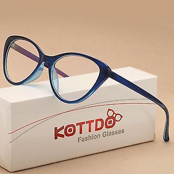 أزياء خمر القط نظارات العين الإطار، نظارات المرأة، البلاستيك البصري واضح