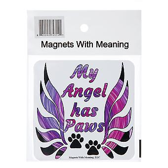 My Angel Has Paws Refrigerator Magnet