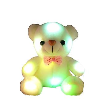 Sound Recording Colorful Luminous Bear - Glowing Plush Toy